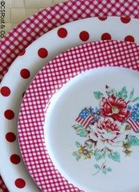 Gingham+melamine+dinnerware+from+cspost