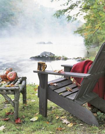 Country living adirondack in the mist