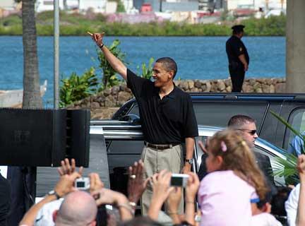 Obama and shaka