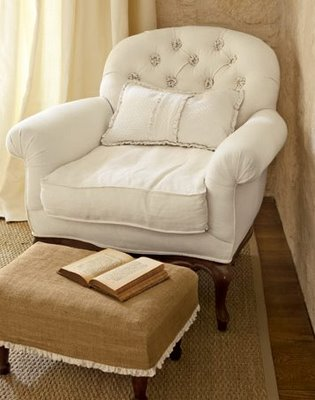 Cl chair and otto slipcover