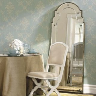 Ballard damask wallpaper