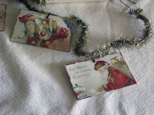 Vintage santa garland