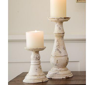 PB pillars candlesticks