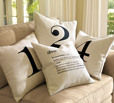 Number pillows from PB