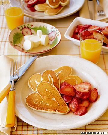 MS heart pancakes