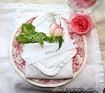 French garden house linens give