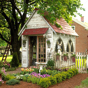B, h, and gardens shed