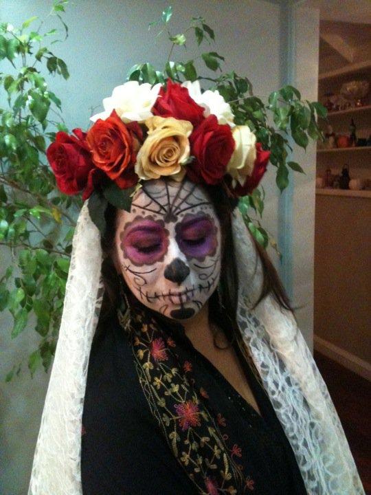 Rene in costume for dia de los muertos