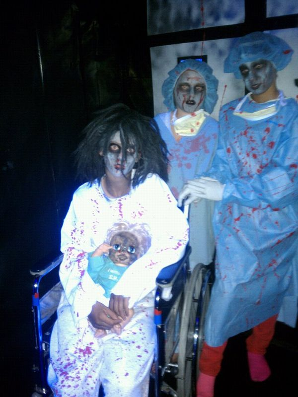 Zombie in house of horrors