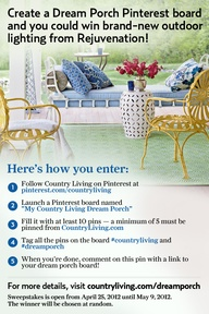 Country living porch contest