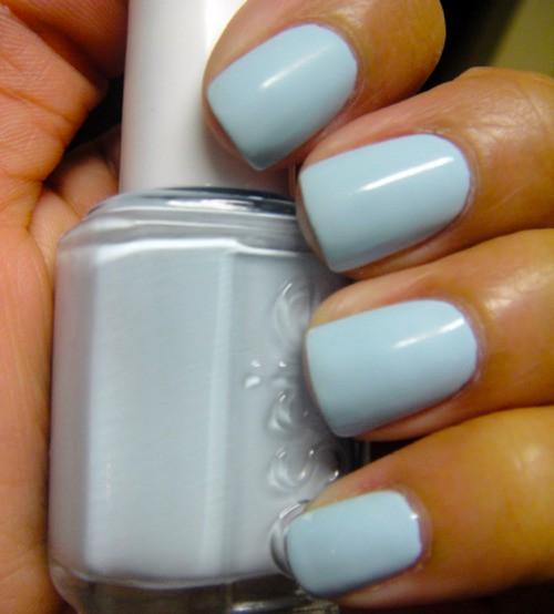 Essie in pale blue