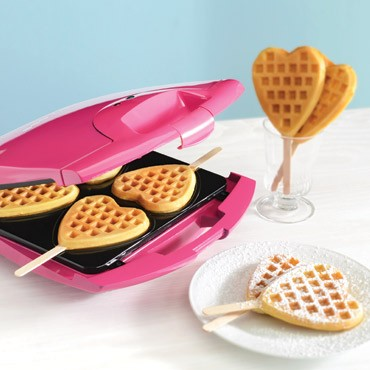 Heart waffle maker from BHG