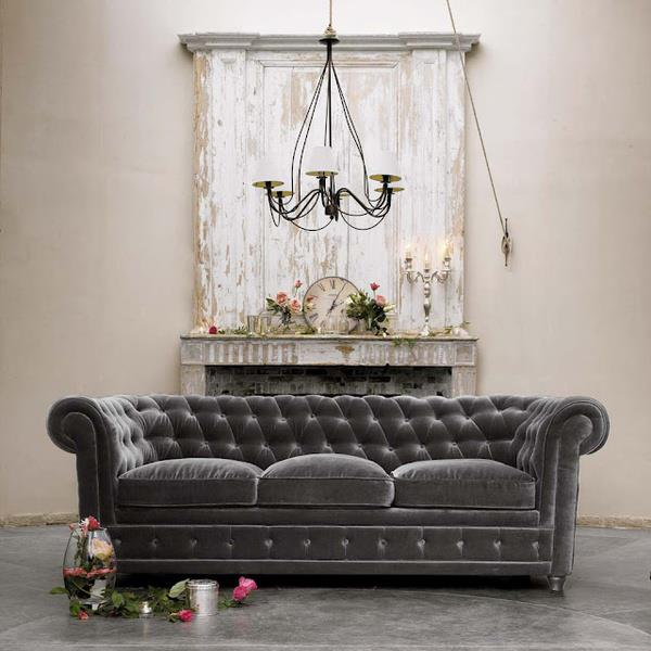 French grey couch