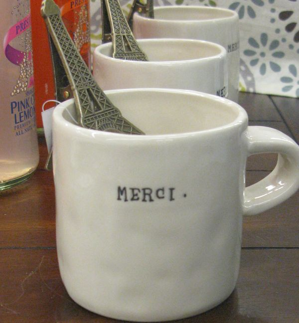 Merci coffee cups