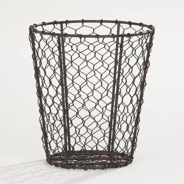 WM chicken wire trash can