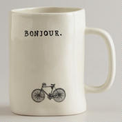Bonjour coffee cup