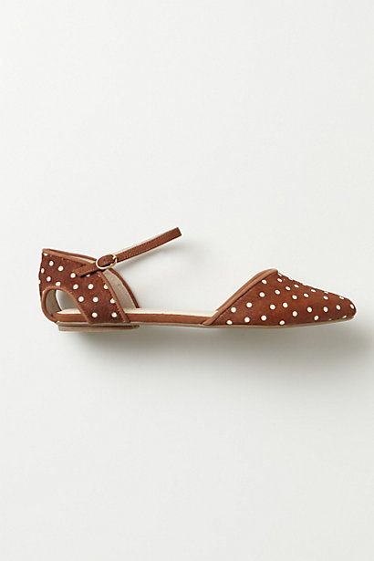 Polka dot flat from anthro