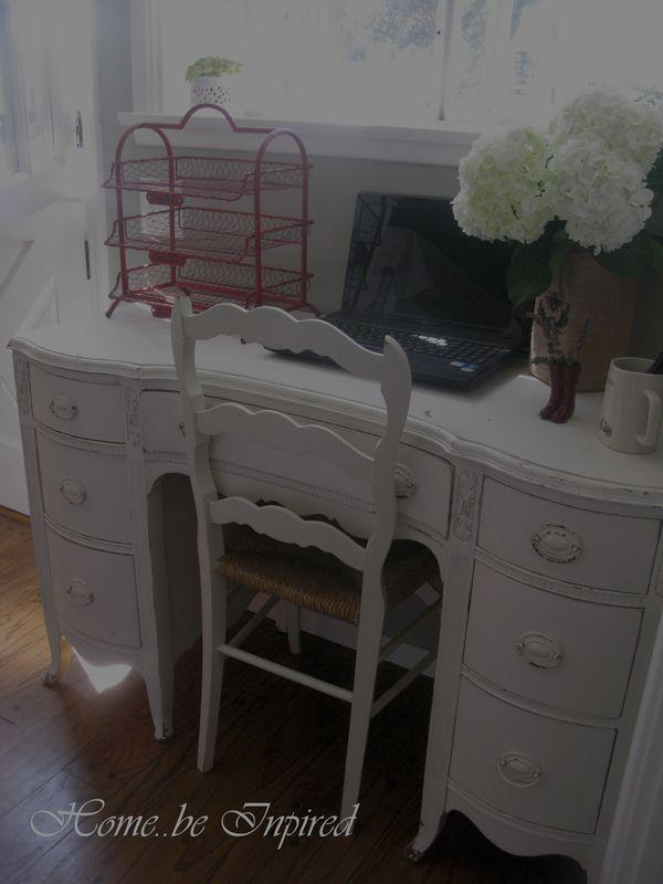 Desk from dining room