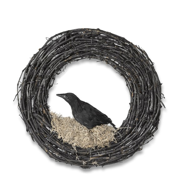 WS crow wreath