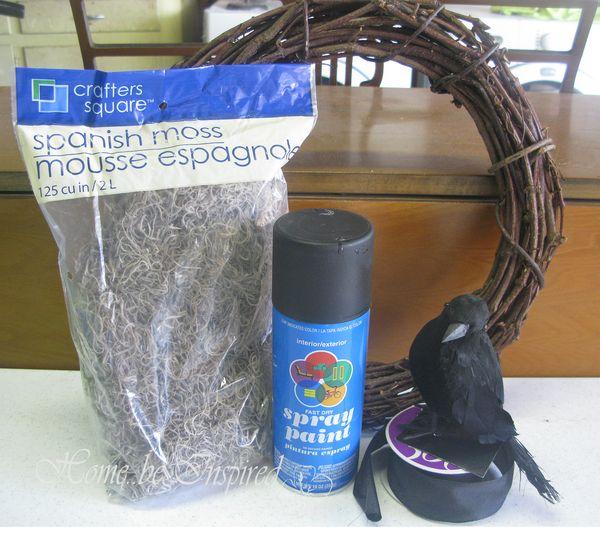 Crow wreath items