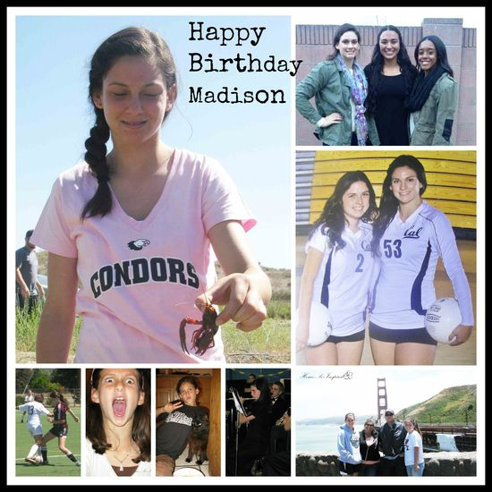 Madison birthday collage