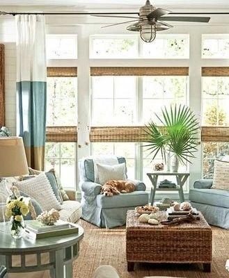 Beach house with fan