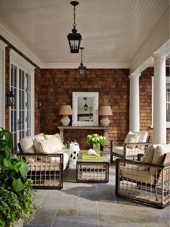 Porch and shingles