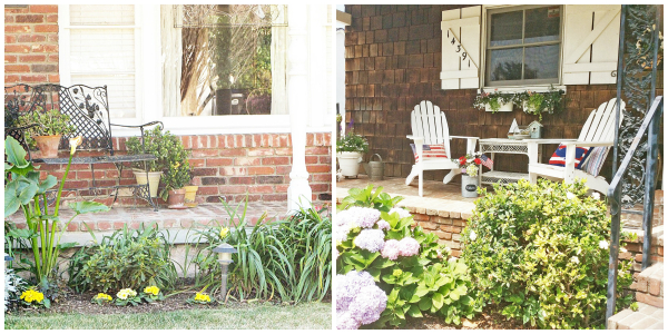 Porches side by side collage
