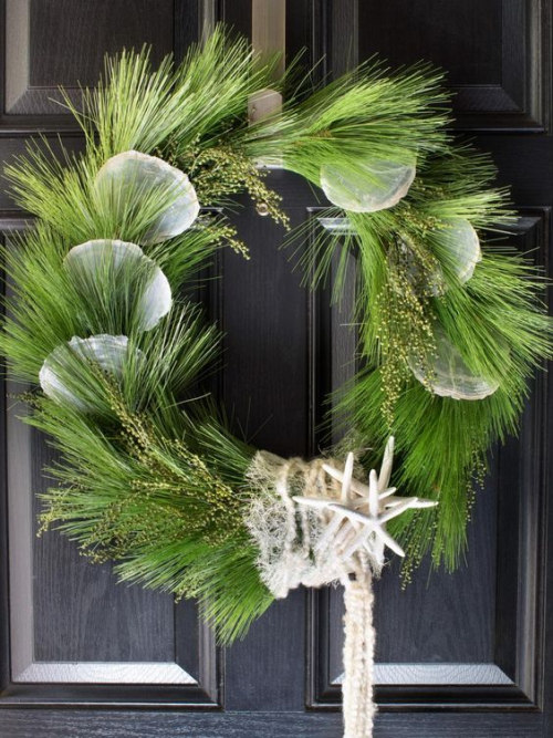 Green starfish wreath