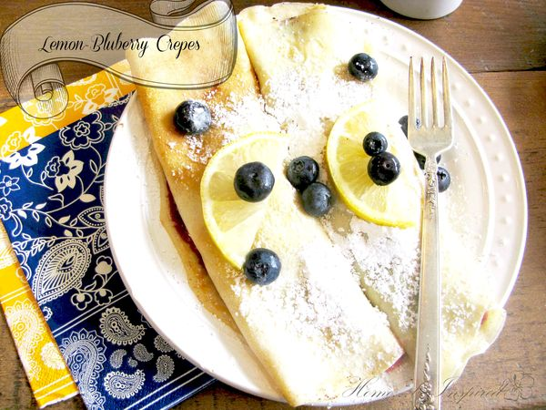 Lemon-Bluberry Crepes