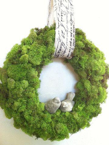 Green moss wreath