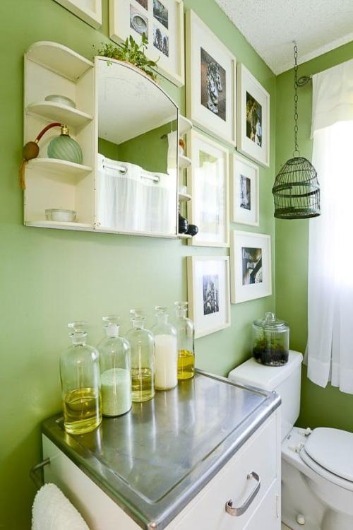 Greenery bathroom