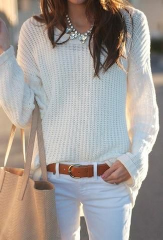Fall outfit in white