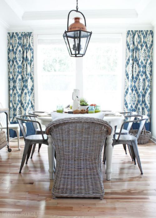 Coastal-dining-space-with-ikat-curtains via Tuvalu