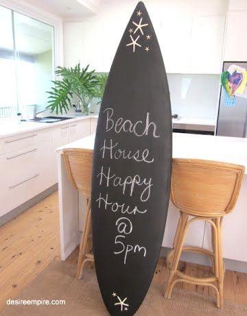 Surfboard chalkboard