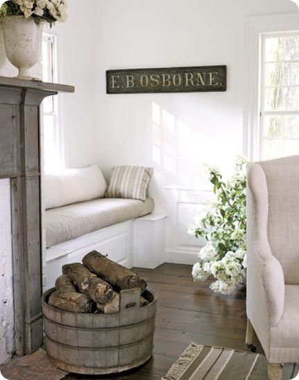 Fireplace bench seating6