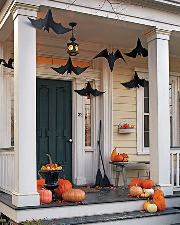 Spooky bat porch