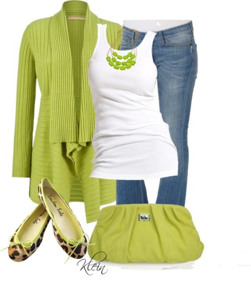 Green outfit with cheetah