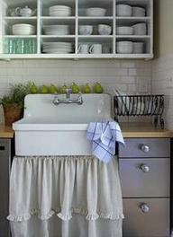 Carrie Raphael's skirted sink