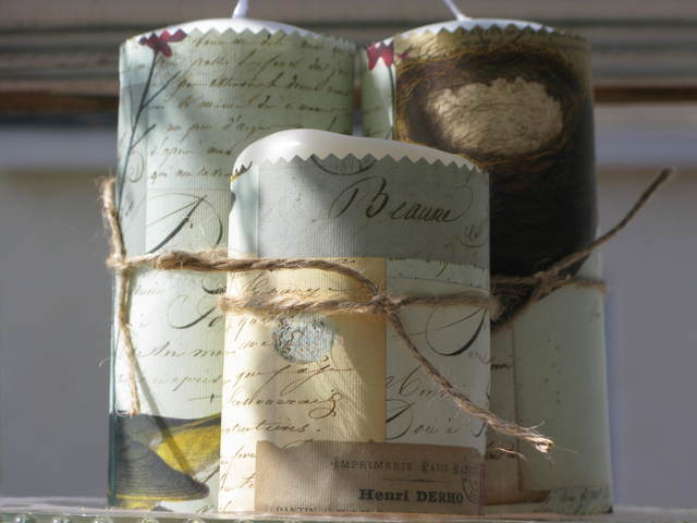 Cavallini Paper Wrapped Candles