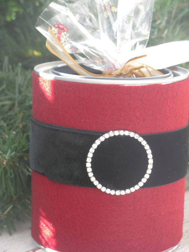 Santa Paint Cans