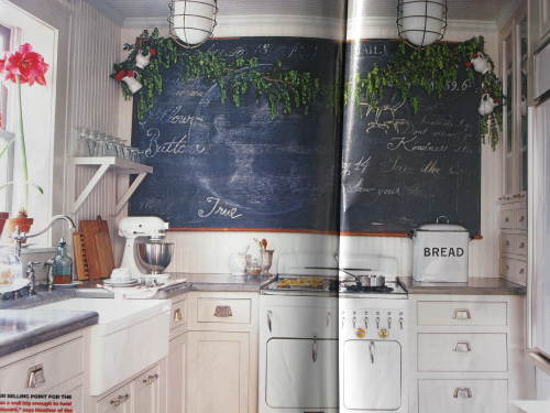 Heather's Vintage chalkboard in kitchen