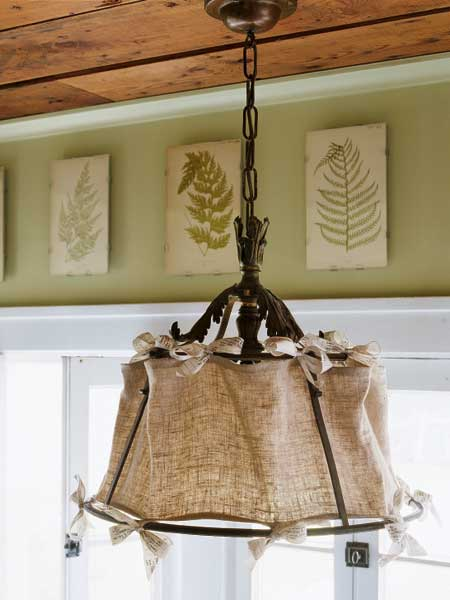 Antique iron with Linen Lampshade