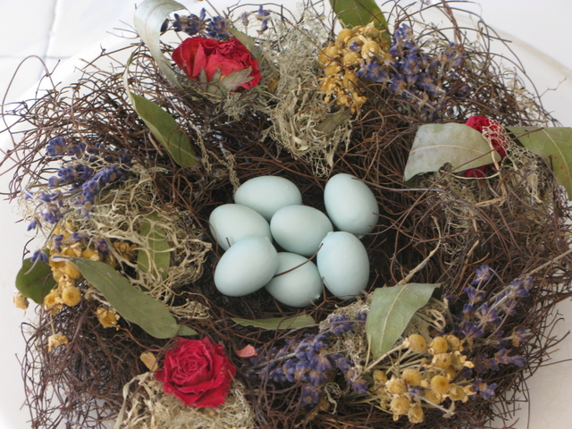 Robin's Egg Candy in a nest