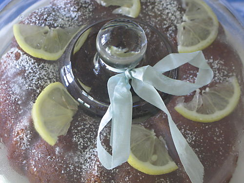 Lemon-Glazed Sponge Cake
