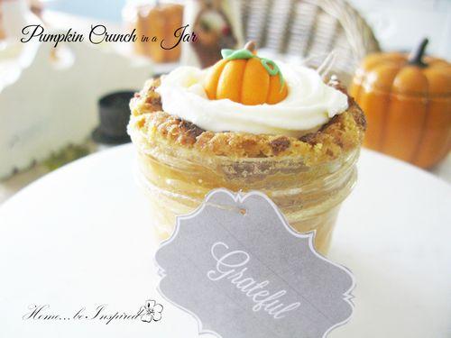 Pumpkin crunch in a jar