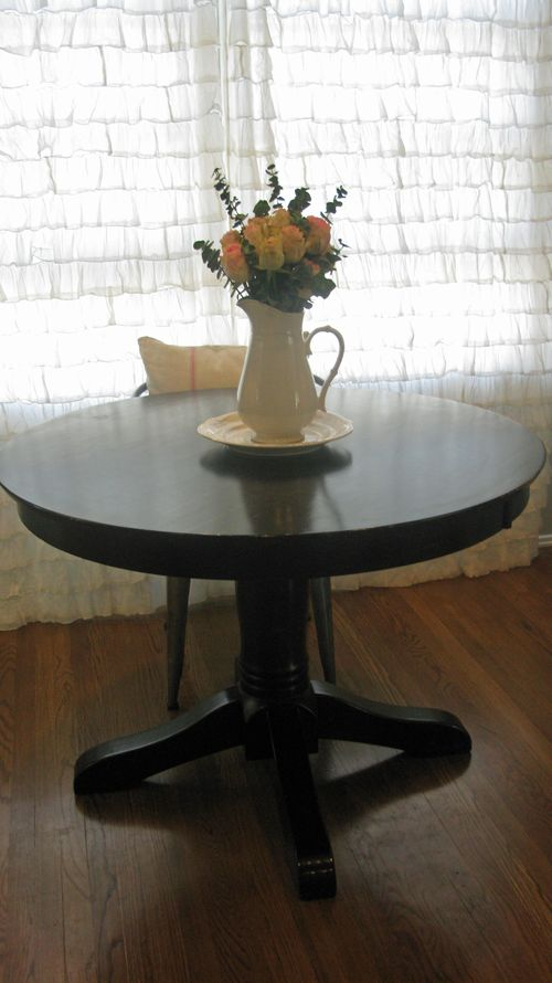{new} pedestal dining table