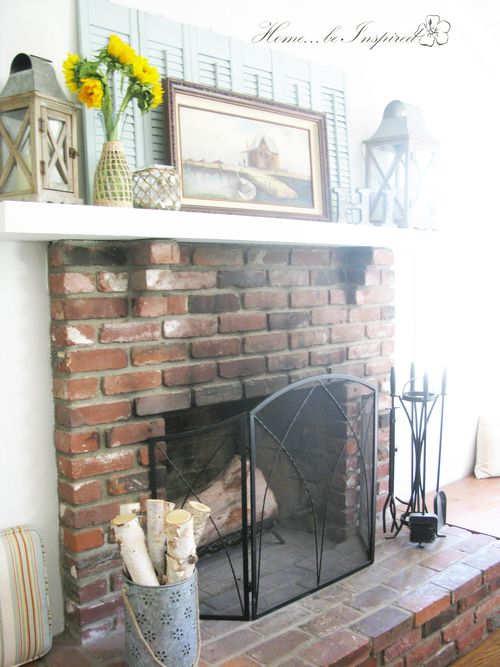 Summer Mantel and Fireplace 2015